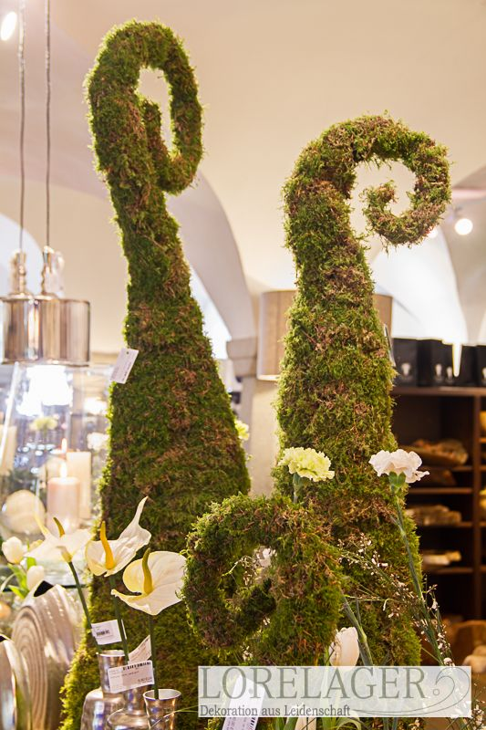 dekoskulpturen aus echtem moos gefertigt in unserer eigenen floristik und dekowerkst tte in. Black Bedroom Furniture Sets. Home Design Ideas