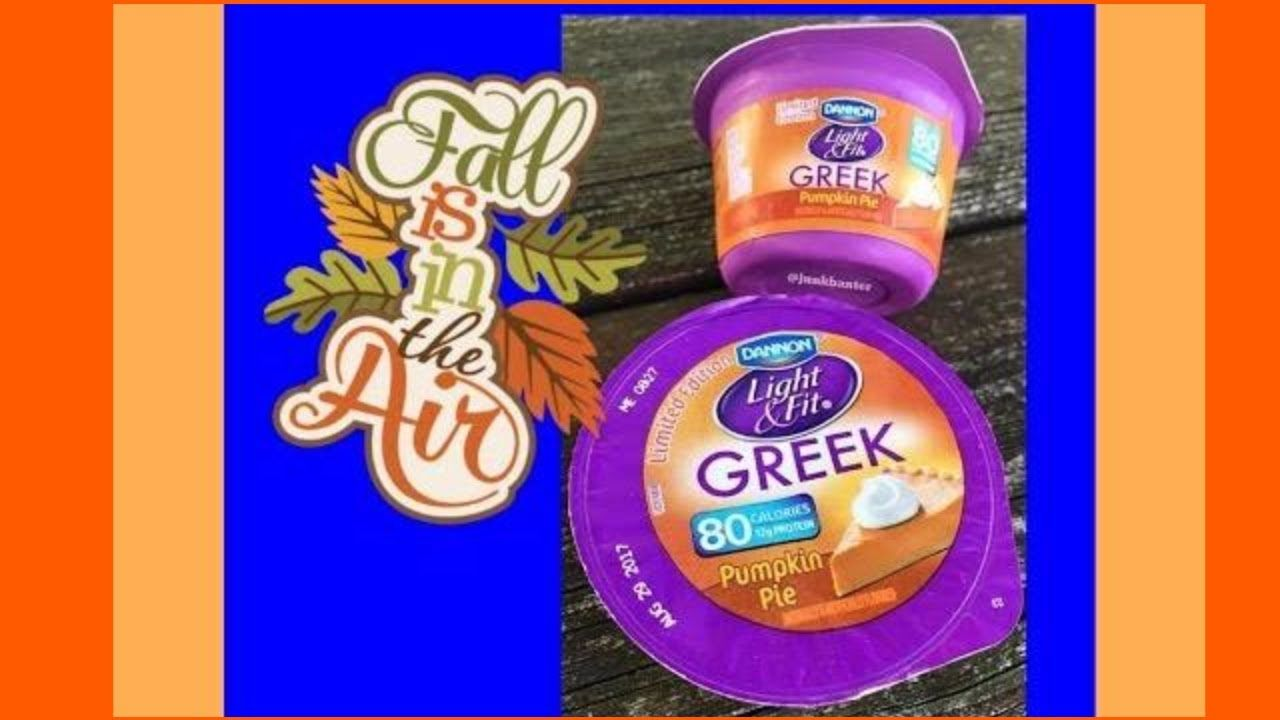 Limited edition dannon light fit pumpkin pie greek