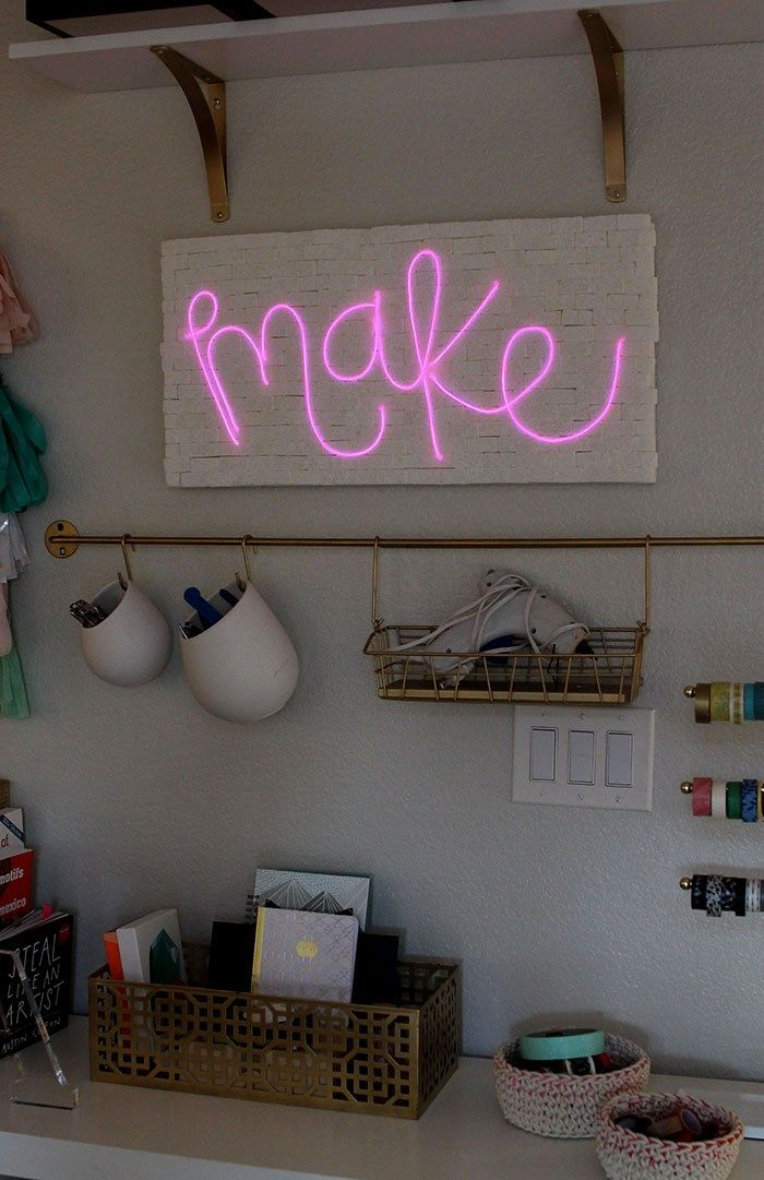 How to Make a DIY Brick & Neon Sign with EL Wire | DIY Projects ...