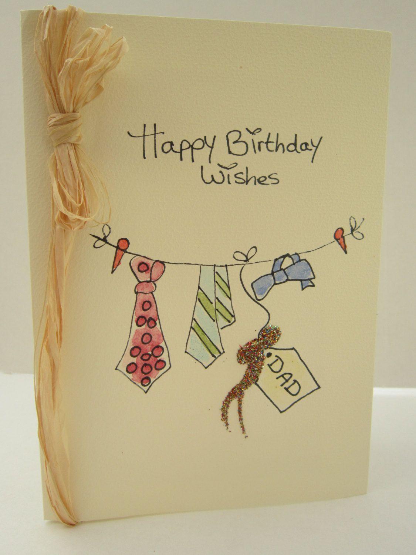Birthday Card Ideas For Uncle : birthday, ideas, uncle, Birthday, Watercolour, Blank, Husband, Card,, Cards, Boyfriend