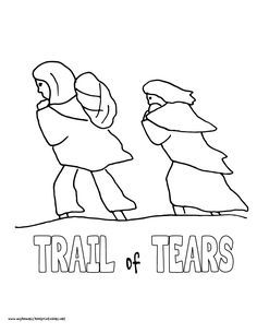 Image result for trail of tears coloring page   Back to school ...