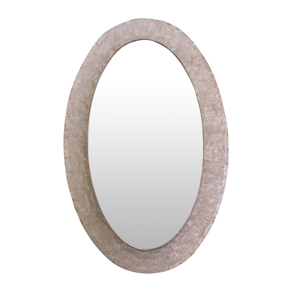 Lucite Oval illuminated Mirror | Illuminated mirrors, Oval ...