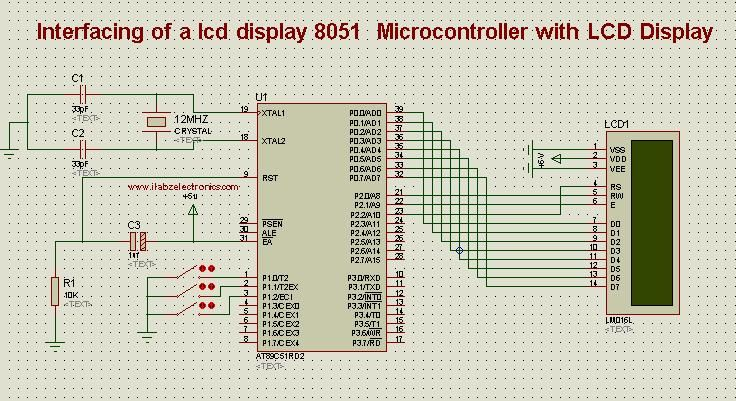 Interfacing Of Lcd Display With 8051 Microcontroller Automation