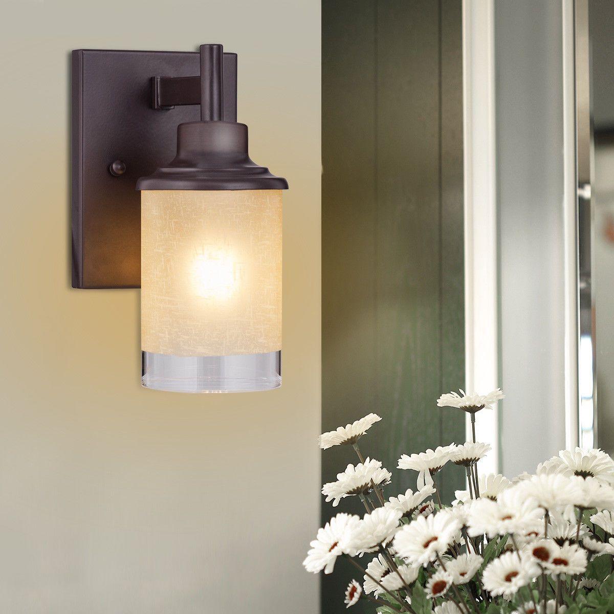 Wall mounted onelight antique bronze vanity light home u garden