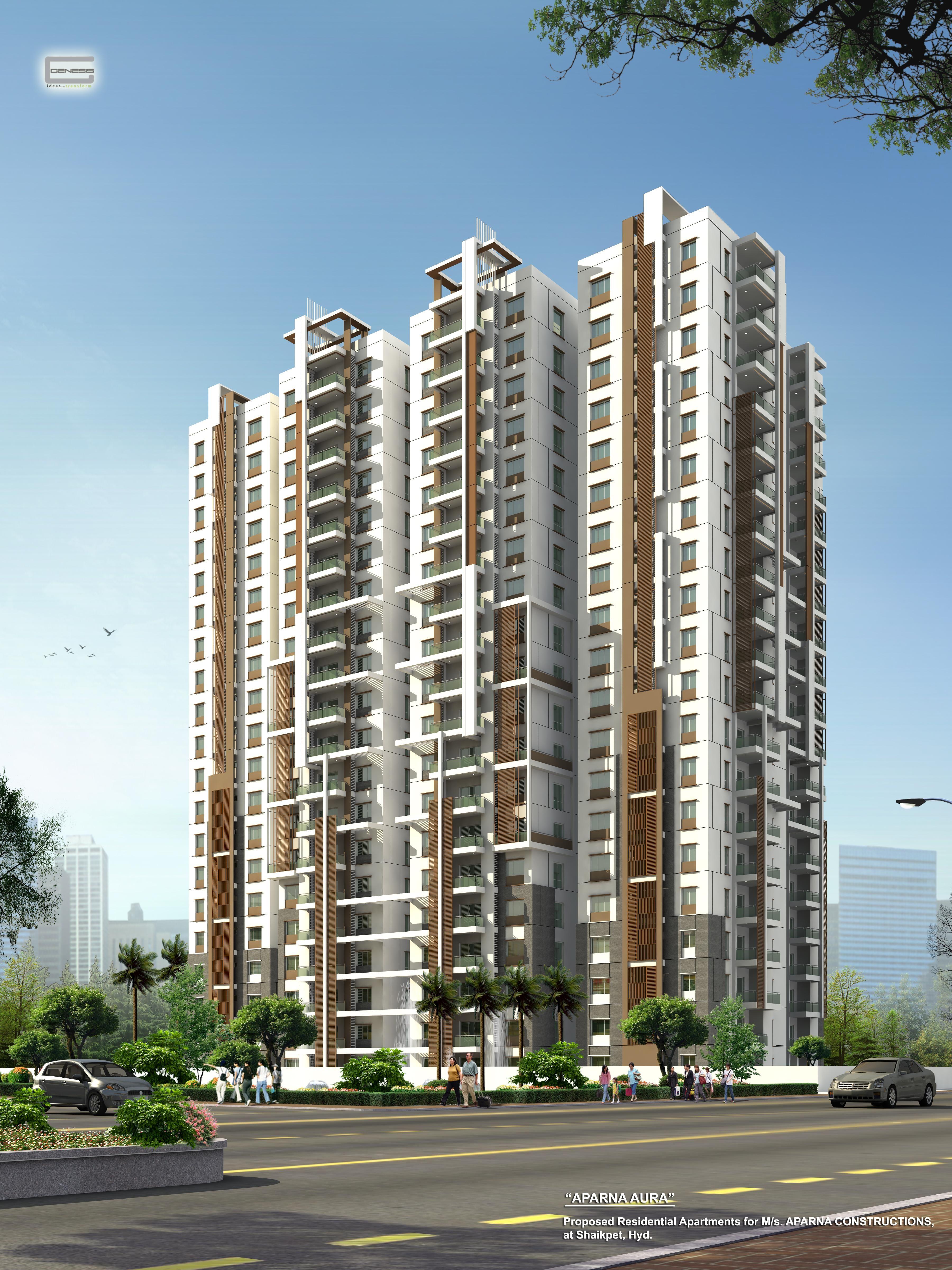 Aparna Constructions | Aparna Aura | Tower View -  www.aparnaconstructions.com