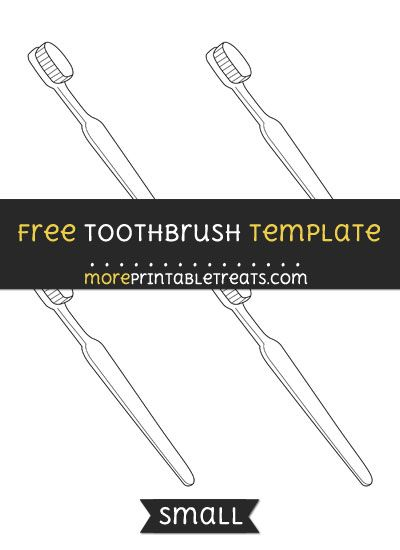 Free Toothbrush Template  Small  Shapes And Templates Printables