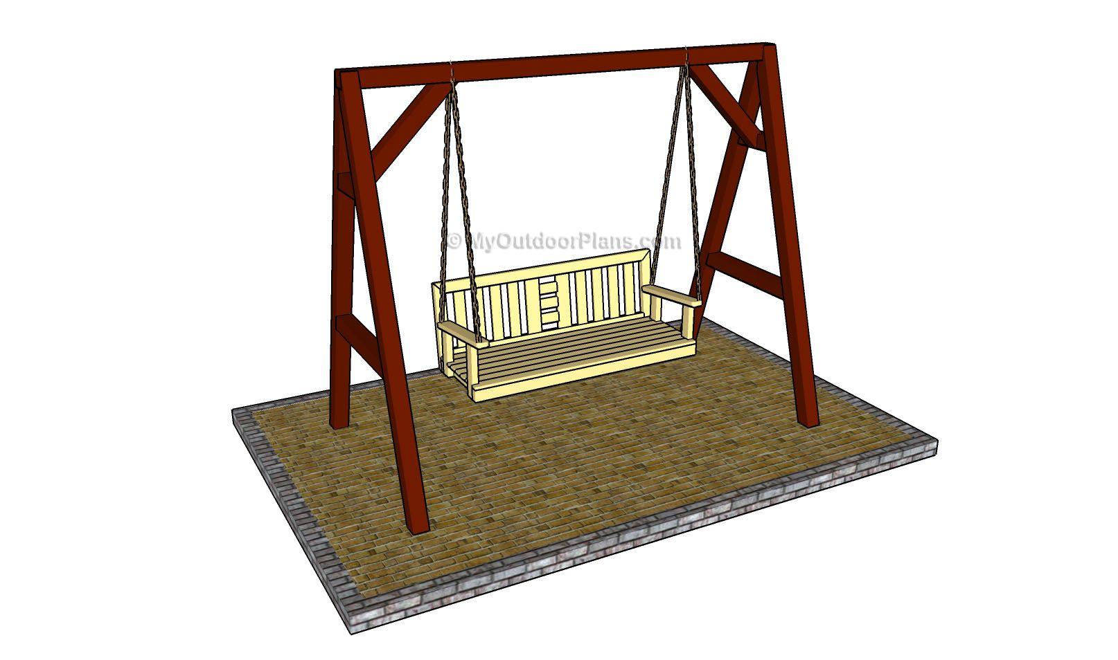 A Frame Swing Plans | Outdoor Furniture Plans | Pinterest | Swings ...