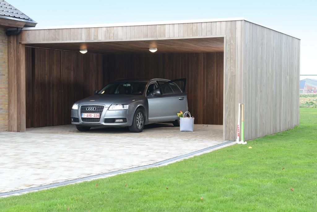 The modern carports in timber from the pure line of livinlodge are