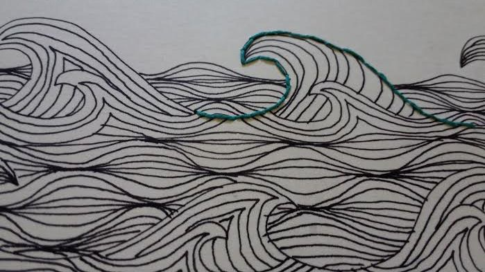 Hardcover Sketchbook. Handmade zentangle and embroidery. 20 sheets (40 pages), 160 g. Single sheet binding. Size: A4. Price: 25$