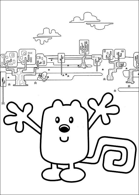 Dibujos para Colorear Wow Wow Wubbzy 3   Dibujos para colorear para ...