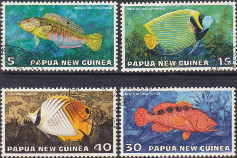 Papua New Guinea 1976 Fauna Conservation Tropical Fish Set Fine Used Other European and British Commonwealth Stamps HERE!