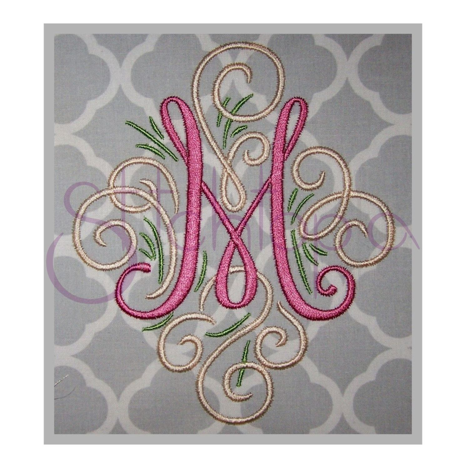 Adorn Monogram Set – 3″, 4″ by StitchtopiaInc on Etsy https://www.etsy.com/listing/241838200/adorn-monogram-set-3-4