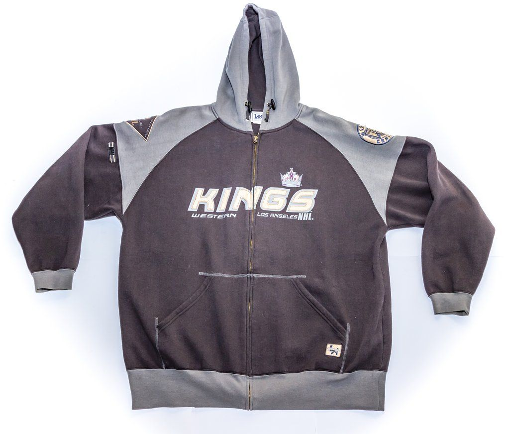 Los Angeles Kings Western Conference Zip Up Hoodie Xl Los Angeles Kings Hoodies Zip Ups