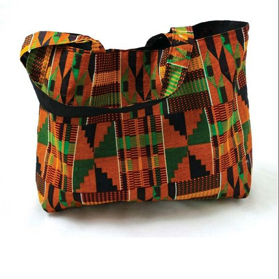 Kente Tote Bag By Simplyroyalcreations On Etsy