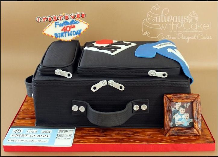 Suitcase Birthday Cake Always With Cake Cakes In 2018