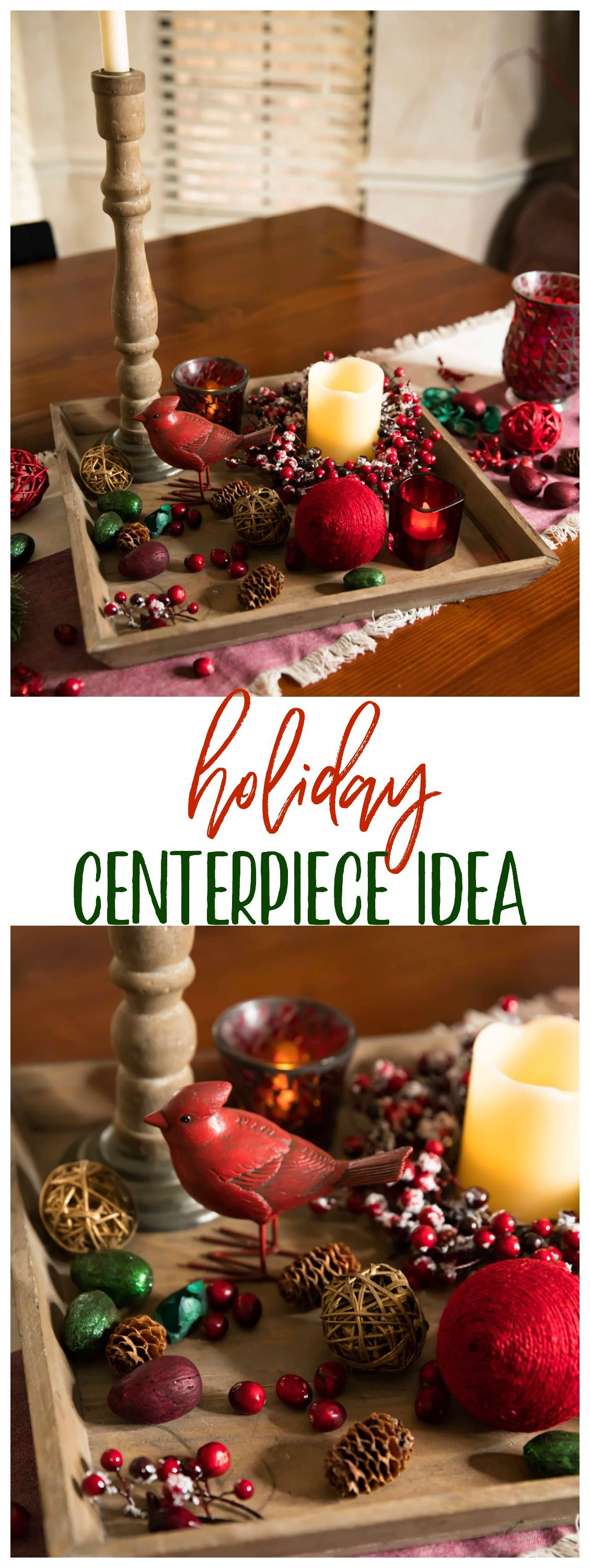 An Easy, Festive Centerpiece Idea For The Holidays #Ad #Fallforfresh