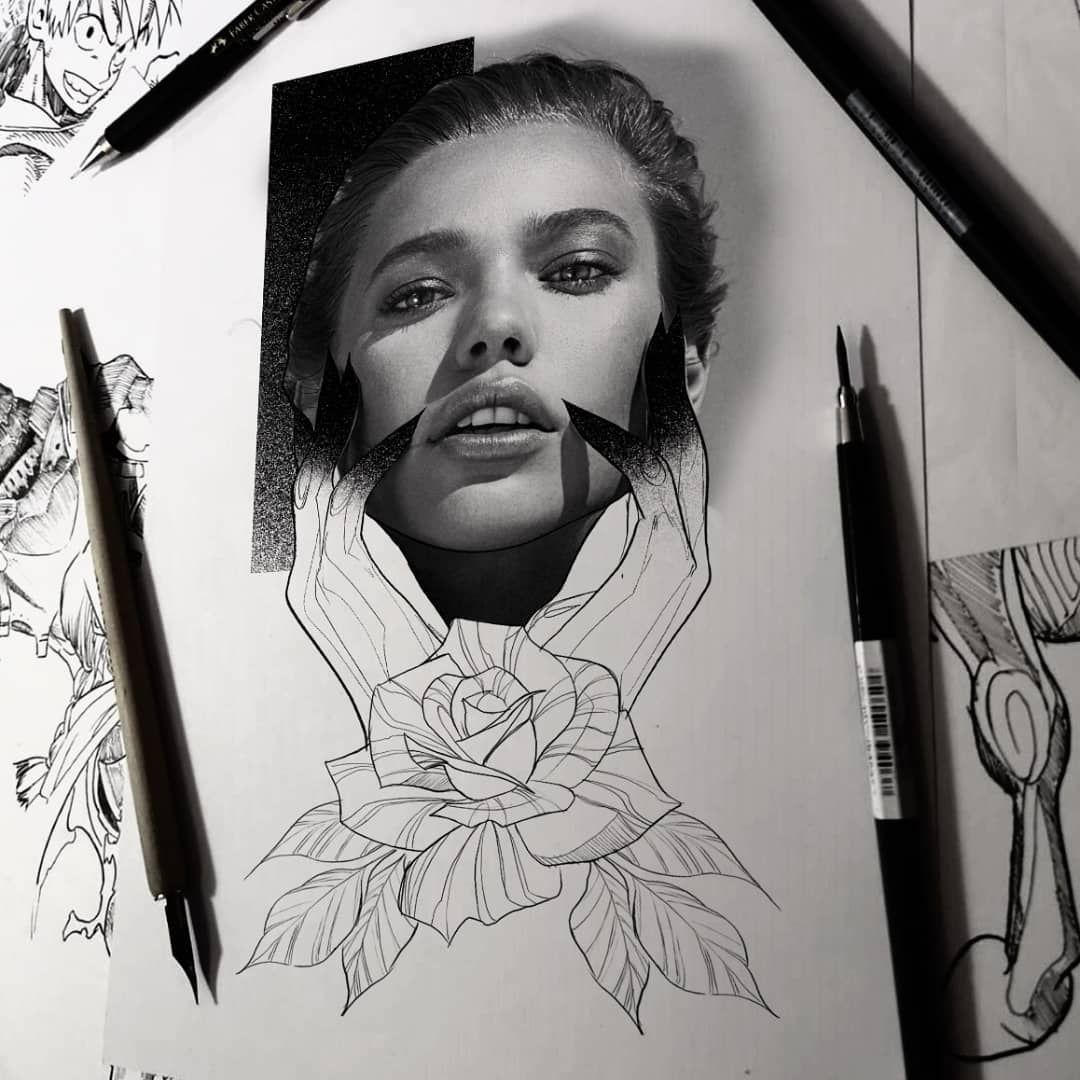 Rose @vikinkessen @vikinkhamburg @bheppo #tattoo #tats #tatts #skull #rose #inkmagazine #woman #blackworktattoo #black #animals #beautiful #sketch #ink #inked #inkedlife #lifestyle #tattoomag #tattoomagazines #blackwork #inkmagazine