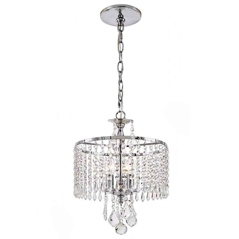 Home decorators collection 3 light polished chrome mini chandelier home decorators collection 3 light polished chrome mini chandelier with k9 crystal dangles aloadofball Images