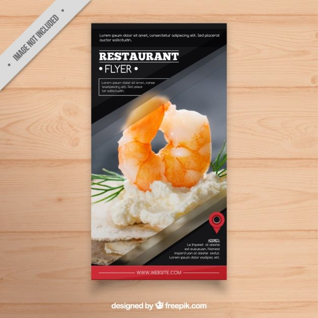 Restaurant menu brochure Free Vector Free Resources Pinterest