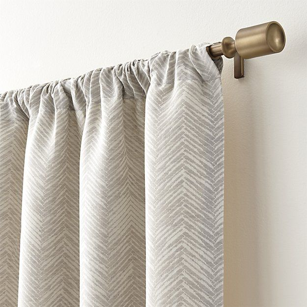 Dover Cream Taupe Curtain Panels Crate And Barrel Taupe