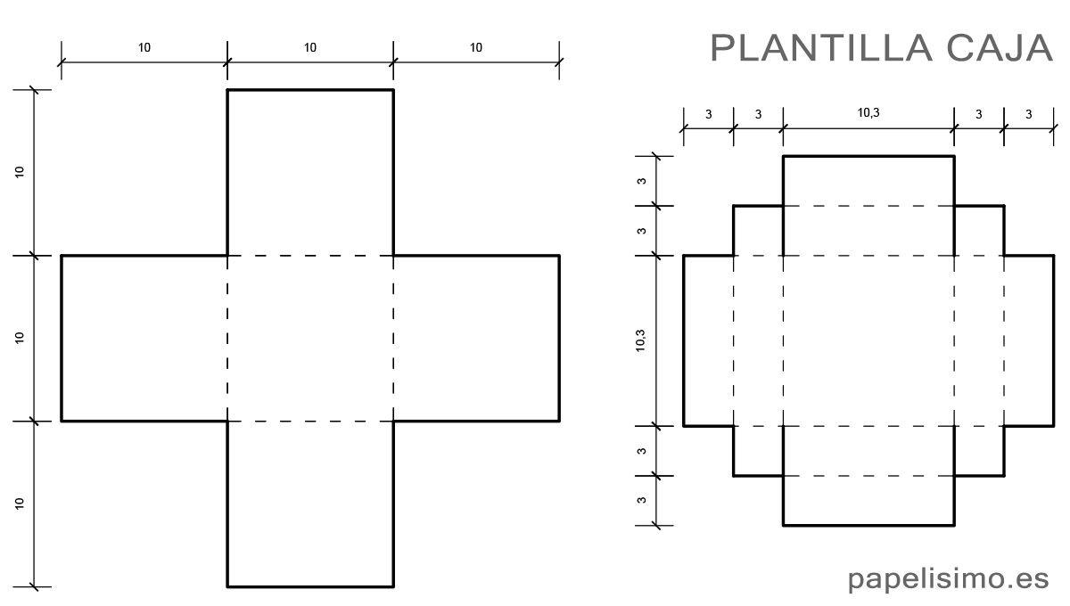 Plantilla-medidas-caja-de-regalo-cuadrada-de-cartulina | SCRAP ...