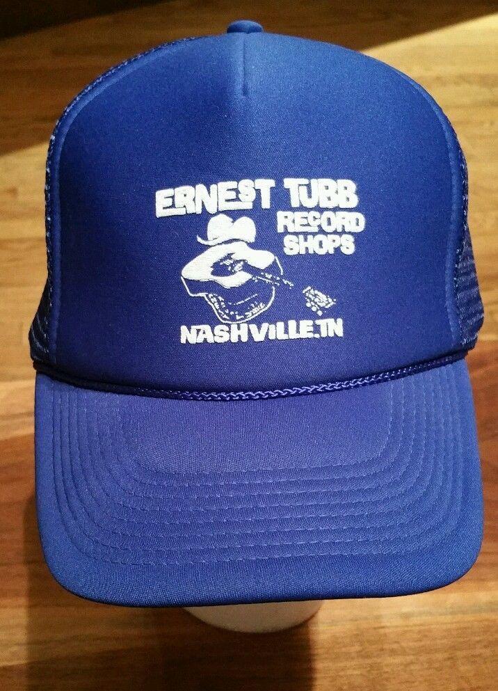 Vintage Ernest Tubb Record Shops Nashville Snapback Trucker Hat blue mesh  Cap  cobra  Trucker 621ae82f60cc