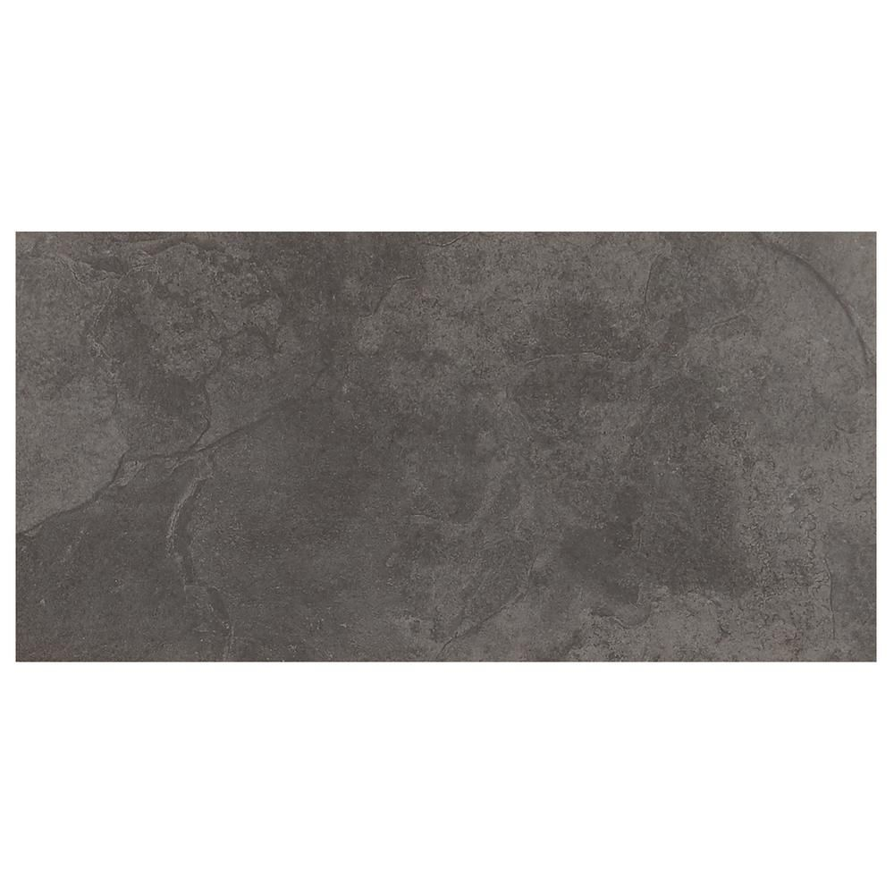 Trafficmaster Cascade Ridge 24 In X 12 In Slate Ceramic Floor And Wall Tile 15 04 Sq Ft Case Cr081224hd1pv The Home Depot In 2020 Ceramic Floor Daltile Floor And Wall Tile