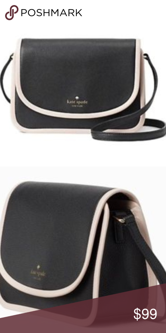 426a990b9ea7 Kate Spade Ward Place Ivy Black Leather Crossbody New with tags Material   Leather Magnetic Closure Gold Tone Hardware Measurements 7