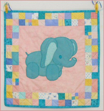 Meet Ellie the Elephant - One of the Stuffies Baby Quilt Patterns. The quilt pattern is available exclusively through my site here: http://www.victorianaquiltdesigns.com/VictorianaQuilters/PatternPage/Stuffies/EllietheElephant.htm  #quilting #baby #stuffies