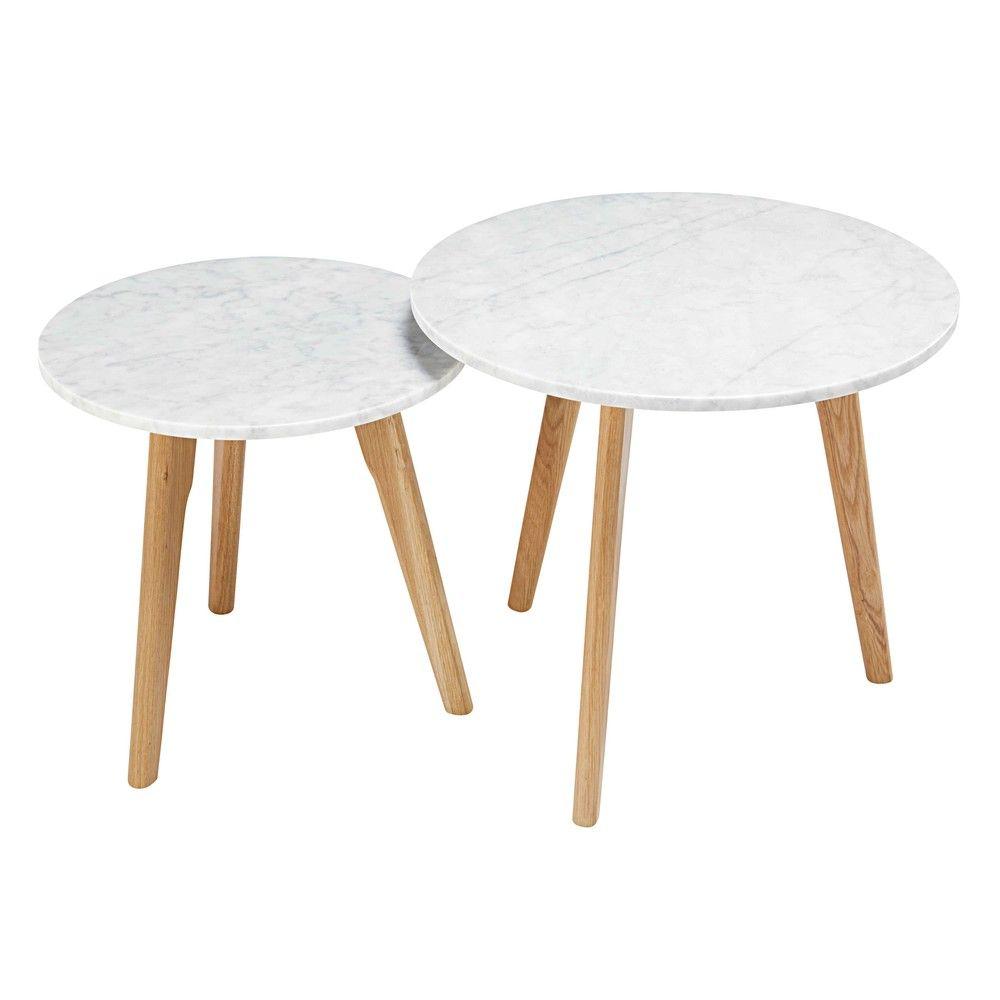 Satzcouchtische Aus Marmor Und Eiche Maisons Du Monde Marble Round Coffee Table Coffee Table Marble Tables Living Room [ 1000 x 1000 Pixel ]