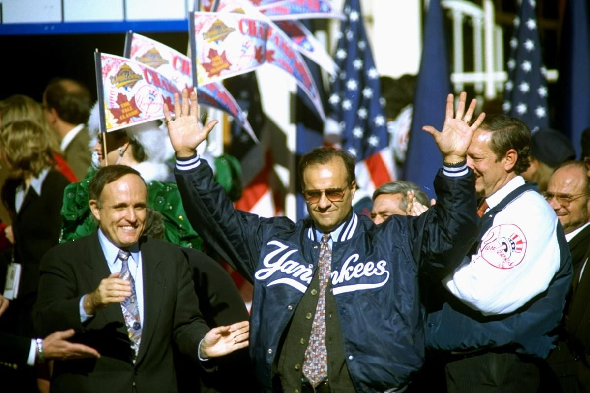 October 29 1996 Photos Yankees Retire Joe Torre S No 6 Joe Torre Yankees Monument Park