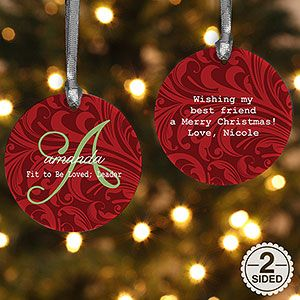 2 Sided Name Meaning Personalized Christmas Ornament Christmas Ornaments Personalized Christmas Ornaments Wood Christmas Ornaments