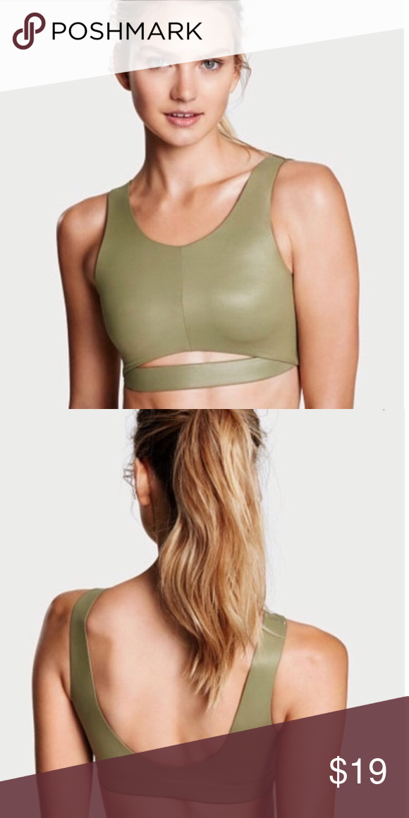 b899cba658 Victoria s Secret green iridescent VSX Sports Bra Medium Victoria s Secret  Intimates   Sleepwear Bras