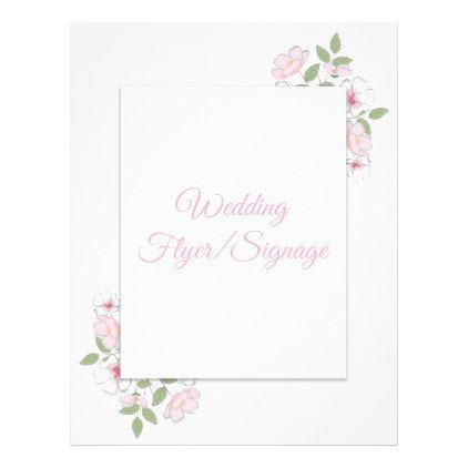 Cherry Blossoms Blank Wedding Flyer  By Lauralacinawedding