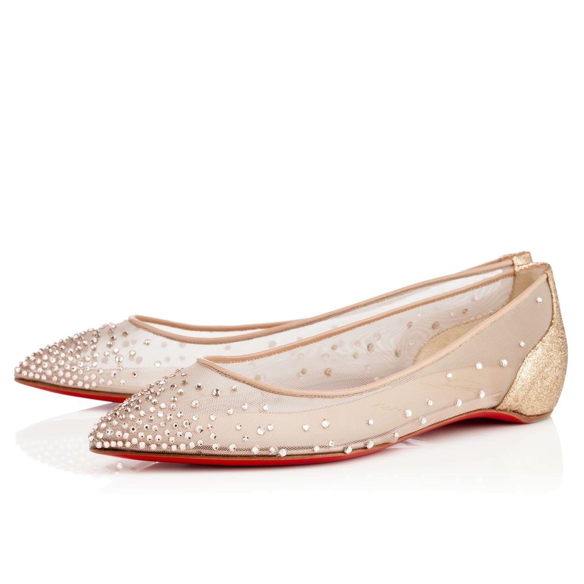 purchase cheap f9310 c8068 Louboutin Flats   threads   Christian louboutin shoes ...