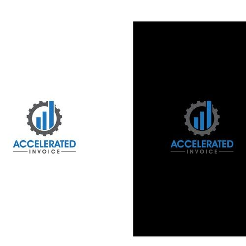 Accelerated Invoice - Simple logo for a B2B accounts receivable - invoice simple