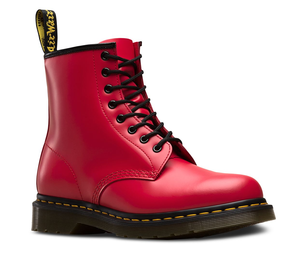 Dr Martens 1460 Smooth Leather Ankle Boots Boots Leather Lace Up Boots Red Doc Martens