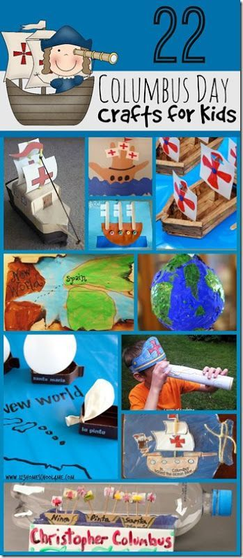 22 Columbus Day Crafts For Kids Christopher Columbus Activities Crafts For Kids Columbus Day