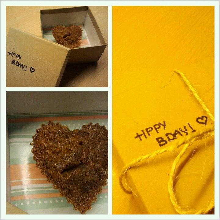 DIY Sweetheart cupcake birthday present