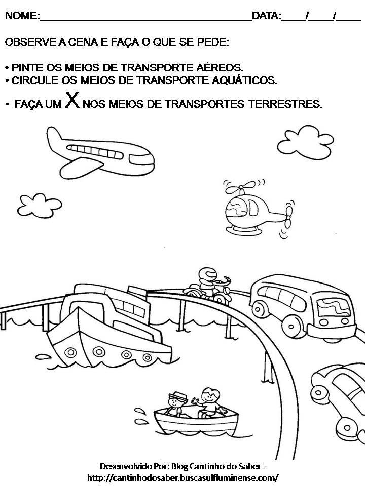 Conhecimento Do Mundo Meios De Transporte Atividades Pesquisa