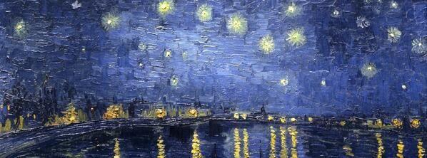 Vincent Van Gogh「notte stellata su Rodano」
