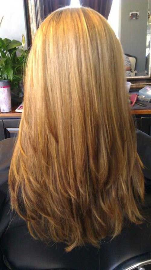 Low Maintenance Layered Long Straight Hairstyles 14
