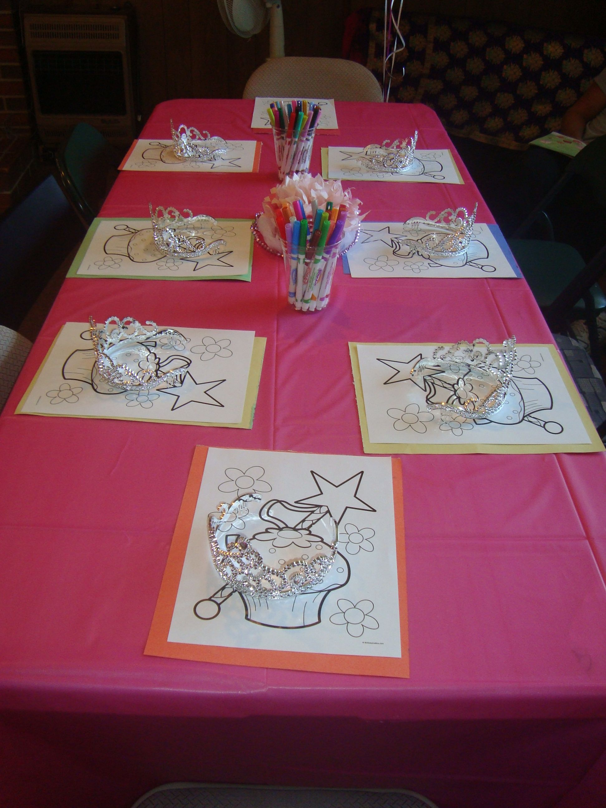 This is one of the activities welcoming guests to the pinkalicious party.