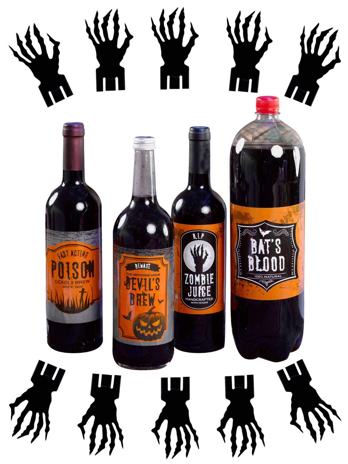 Flaschen Label Und Glas Markierer Halloween Party Deko Set
