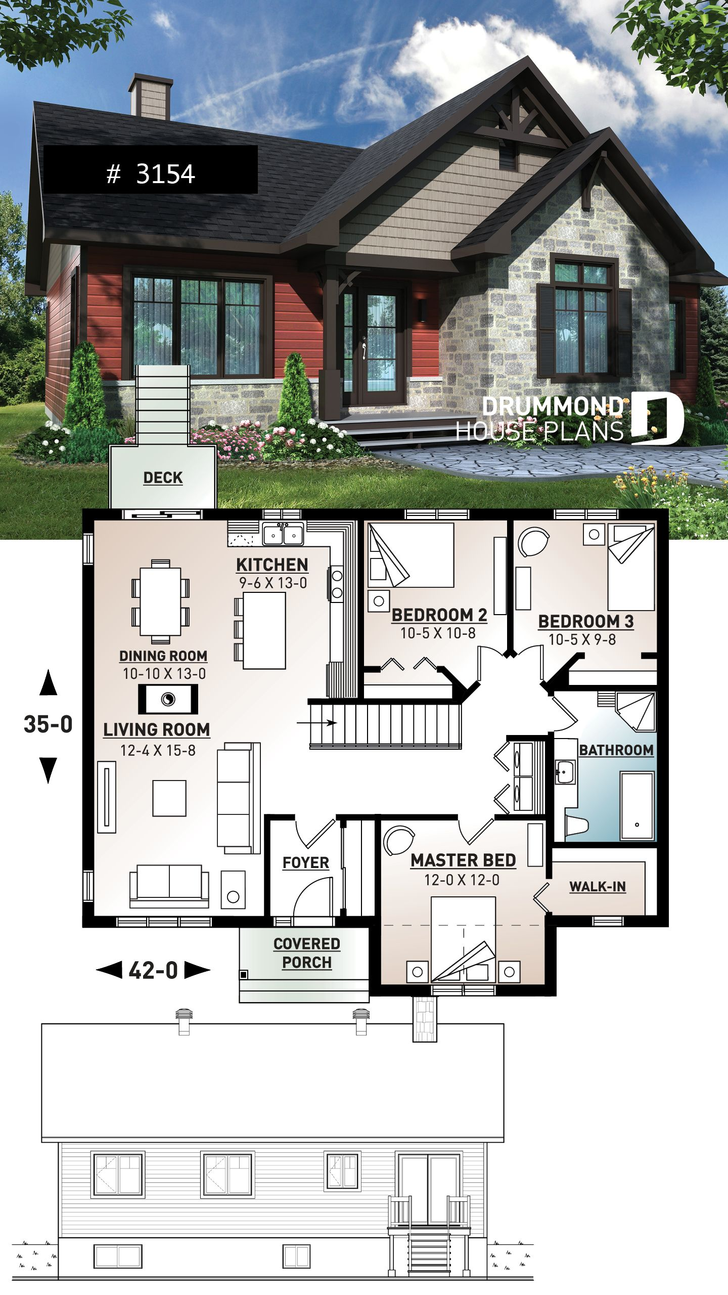 Discover The Plan 3154 Aspen Creek Which Will Please You For Its 3 Bedrooms And For Its Country Styles Country House Design Craftsman House Plans Sims House Plans