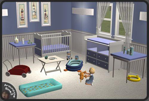Around the Sims 2 | Objects | Nursey | Beach House | Sims | Pinterest