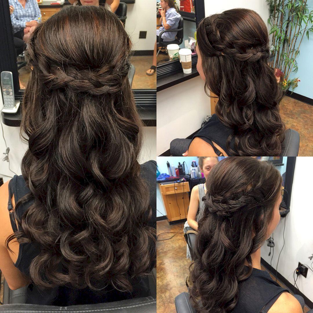 Stunning half up half down wedding hairstyles ideas no make up
