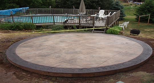 Stamped Concrete Patio Designs Stamped Concrete Patios In