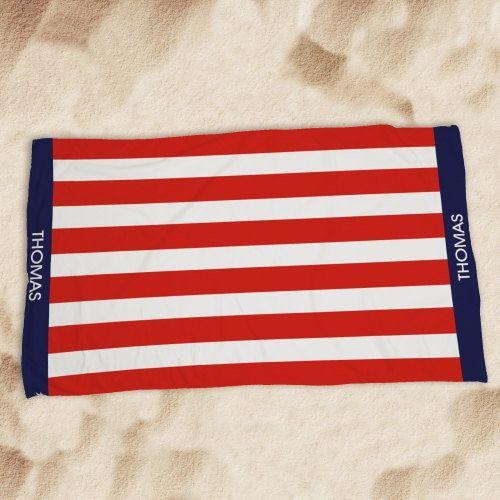 Personalized Usa Pride Beach Towel America Beach Towel American
