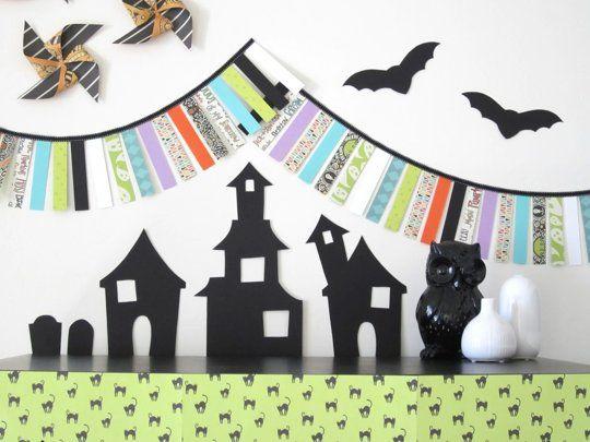DIY Craft Ideas for Kids Make Halloween Decorations using Paper - halloween decoration kids
